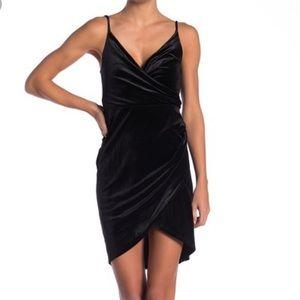 NWT Velour Wrap Dress by Free Press, Black